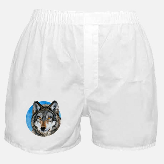 Painted Wolf Boxer Shorts