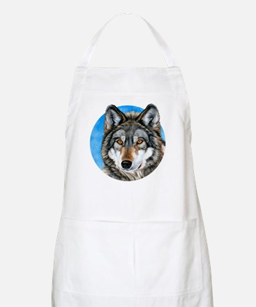 Painted Wolf BBQ Apron