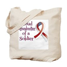 Grandmother of a Soldier Tote Bag