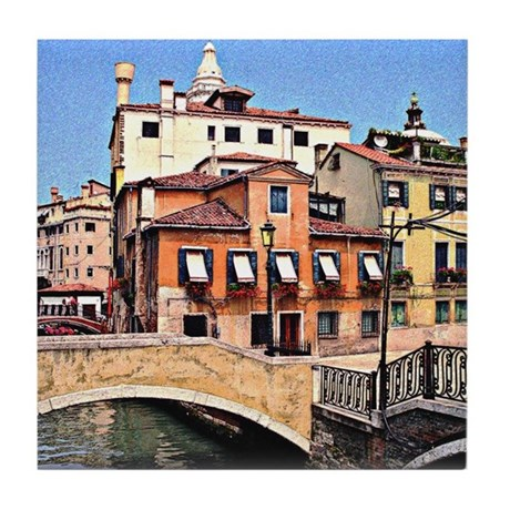 Venice Ceramic Tile Coaster