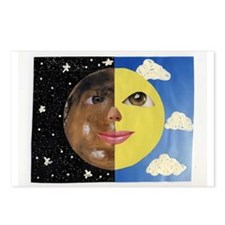 Cute Moon face Postcards (Package of 8)