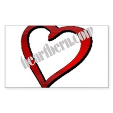 HeartBern Rectangle Decal