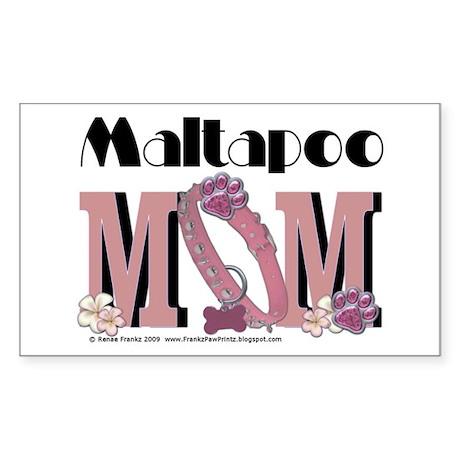 Maltapoo MOM Rectangle Sticker