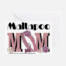 Maltapoo MOM Greeting Card