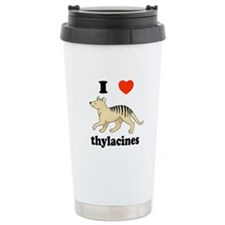 I Love Thylacines Travel Mug