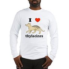 I Love Thylacines Long Sleeve T-Shirt