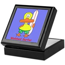 """Webbed Surfer"" Keepsake Box"