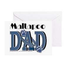 Maltapoo DAD Greeting Card