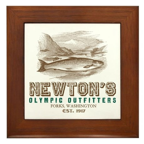 Newton's Olympic Outfitters Framed Tile