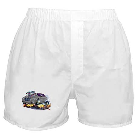 Chrysler 300 Silver/Grey Car Boxer Shorts