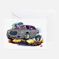 Chrysler 300 Silver/Grey Car Greeting Cards (Pk of