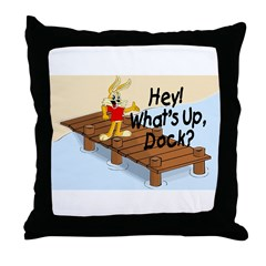 What's Up Dock Throw Pillow