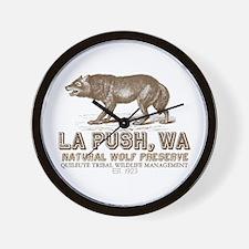 La Push Wolf Preserve Wall Clock