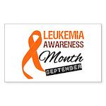 Leukemia Awareness Month v6 Rectangle Sticker 10