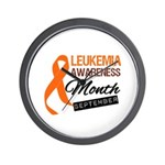 Leukemia Awareness Month v6 Wall Clock