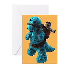 Dinosaur & Caveman Greeting Cards Pack of 6