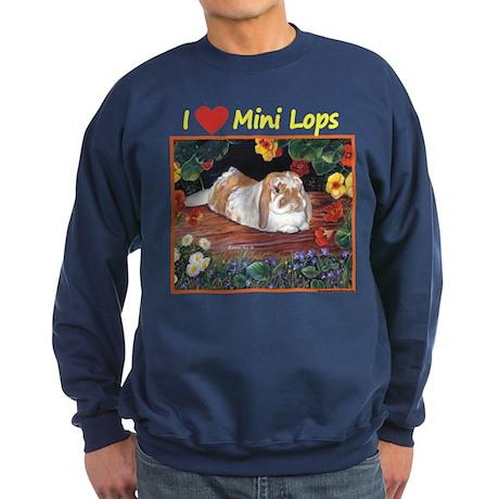 I heart Mini Lops Sweatshirt (dark)