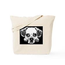 Black & Black Puggle Tote Bag