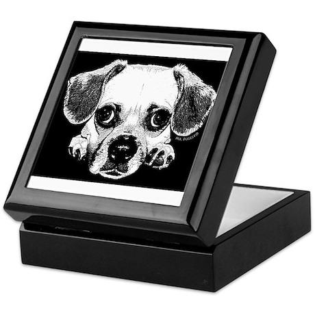 Black & Black Puggle Keepsake Box