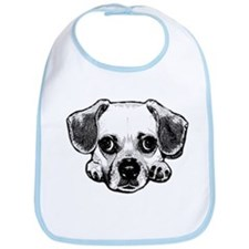 Black & White Puggle Bib
