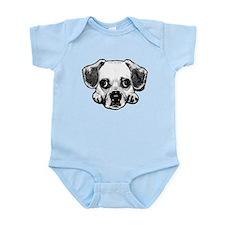 Black & White Puggle Infant Bodysuit