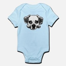 Black & White Puggle Onesie