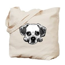 Black & White Puggle Tote Bag