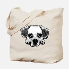 Black & White Puggle Tote Bag
