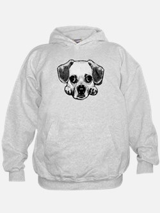 Black & White Puggle Hoodie