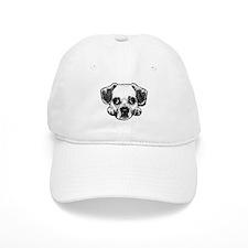 Black & White Puggle Baseball Baseball Cap