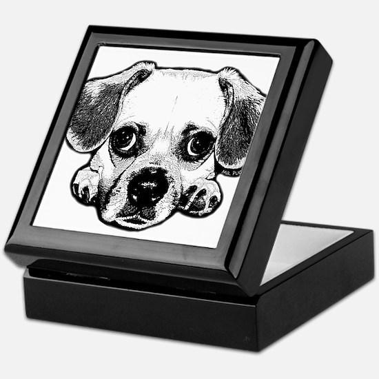 Black & White Puggle Keepsake Box