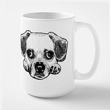 Black & White Puggle Large Mug