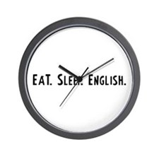 Eat, Sleep, English Wall Clock