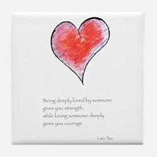 Love Deeply Tile Coaster