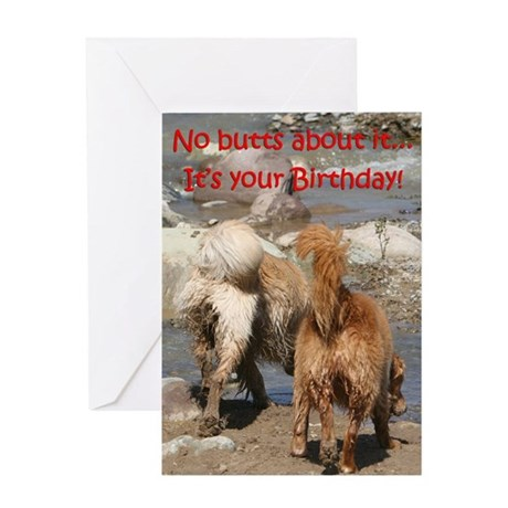 Golden Retriever Birthday Card 'Mud'