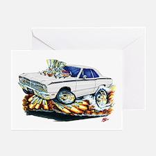 Dodge Dart White Car Greeting Cards (Pk of 10)