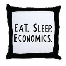 Eat, Sleep, Economics Throw Pillow