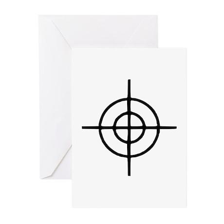 Crosshairs - Gun Greeting Cards (Pk of 10)