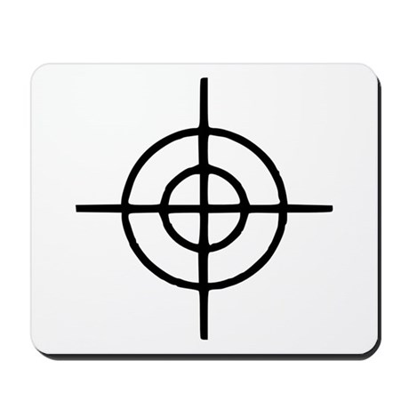 Crosshairs - Gun Mousepad