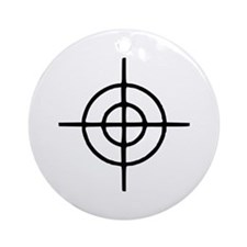 Crosshairs - Gun Ornament (Round)