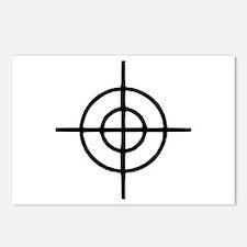 Crosshairs - Gun Postcards (Package of 8)
