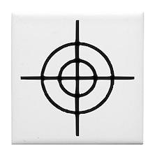 Crosshairs - Gun Tile Coaster