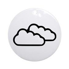 Clouds - Weather Ornament (Round)