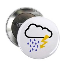 """Thunderstorm - Weather 2.25"""" Button (100 pack)"""