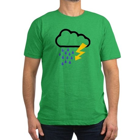 Thunderstorm - Weather Men's Fitted T-Shirt (dark)
