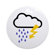 Thunderstorm - Weather Ornament (Round)