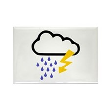 Thunderstorm - Weather Rectangle Magnet