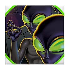 Dark Aliens Tile Coaster