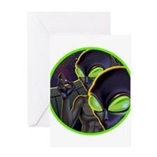 Dark Aliens Greeting Card