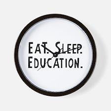 Eat, Sleep, Education Wall Clock